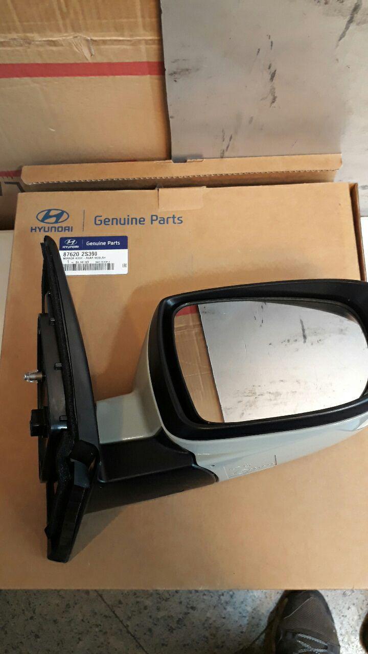 آینه بغل هیوندای توسان مدل ۲۰۱۱ به بالا اصلی فابریک جینیون پارت-۸۷۶۲۰۲S390