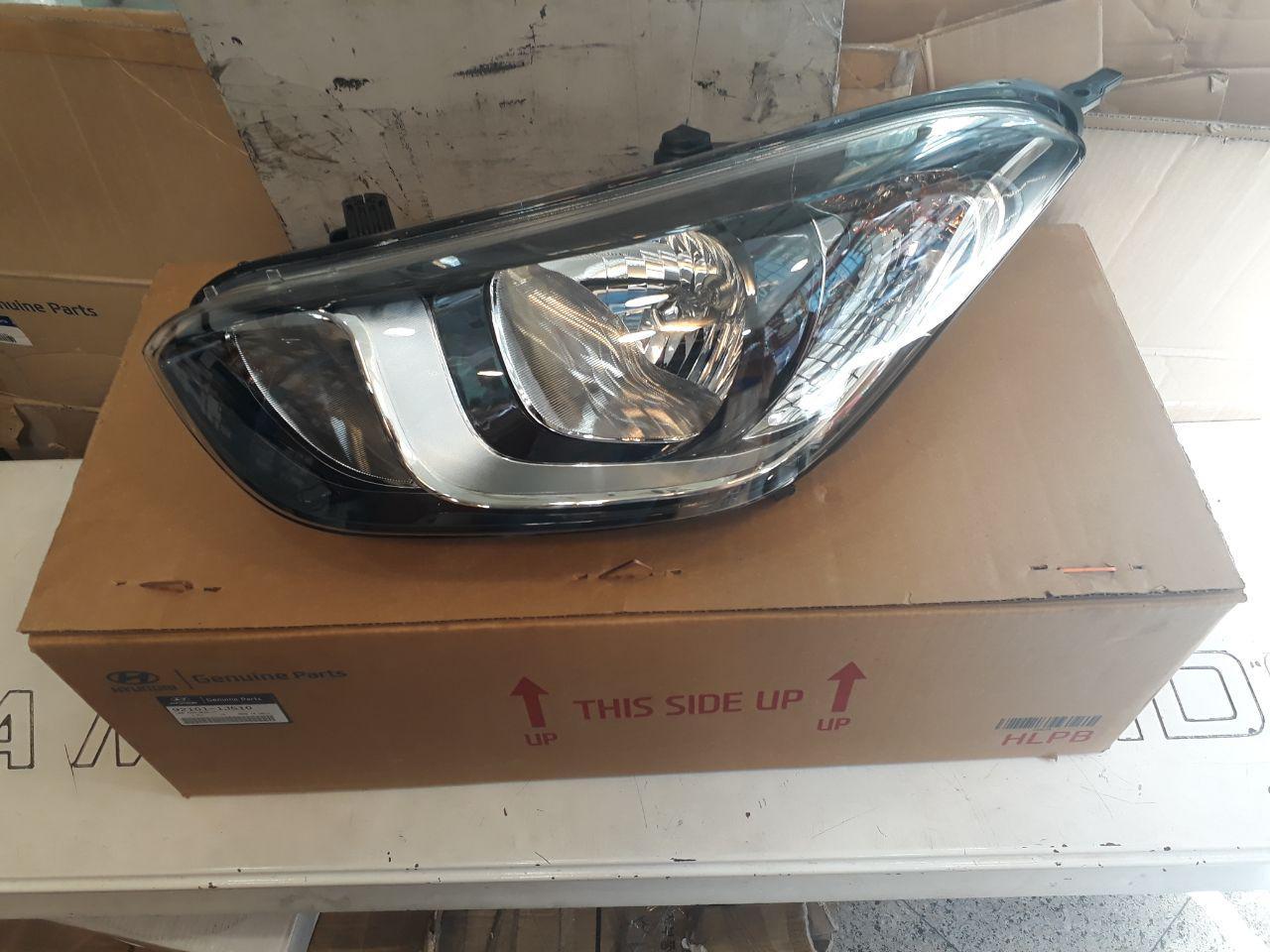چراغ جلو هیوندایی I20 مدل ۲۰۱۲ الی ۲۰۱۵ اصلی فابریک جینیون پارت  ۹۲۱۰۱-۱J510