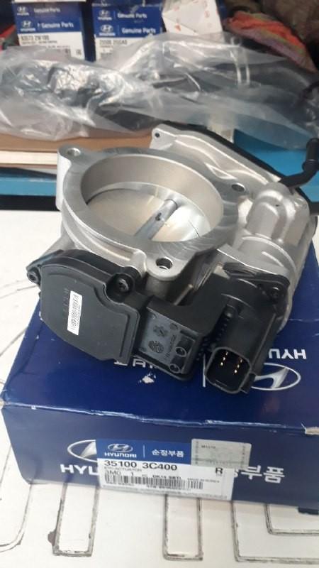 دریچه گاز هیوندایی کامل با سنسور جنسیس اصلی فابریک موبیز  ۳۵۱۰۰ ۳C400