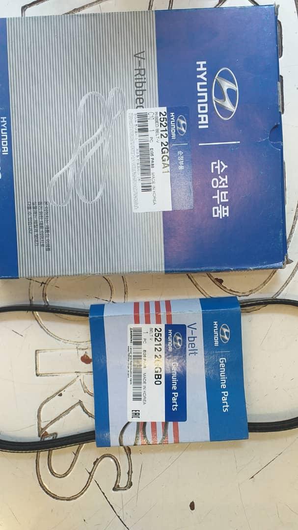 تسمه دینام و تسمه واتر پمپ هیوندای سانتافه موتور GDI, 25212 2GGA1,25212 2GGB0